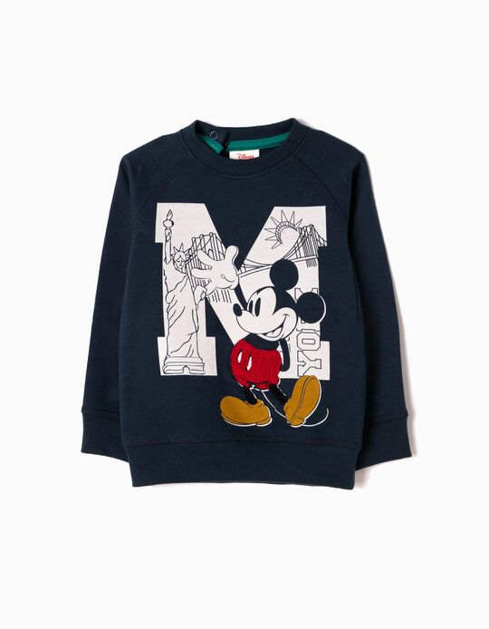 Blue Sweatshirt, Mickey