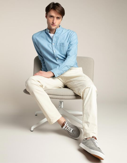 Chinos with elastic