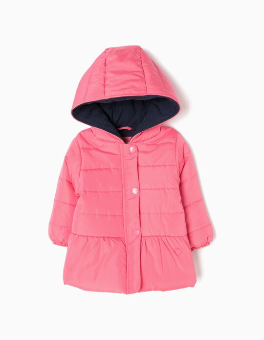Padded Coat with Hood, Pink