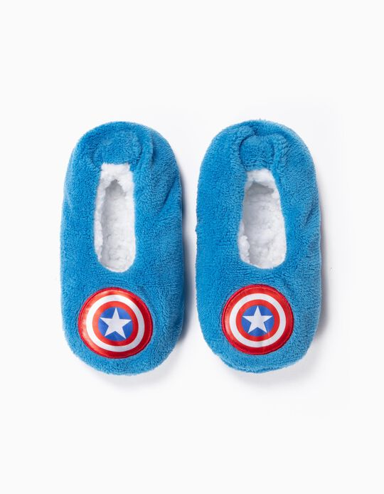 Slippers for Boys 'Captain America', Blue