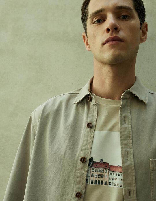 Overshirt for Men, Beige