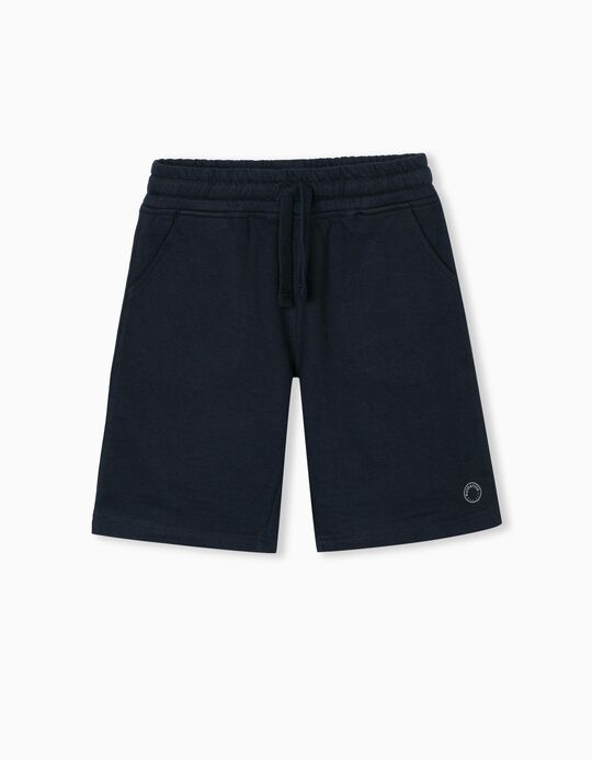 Jogger Shorts for Boys, Dark Blue