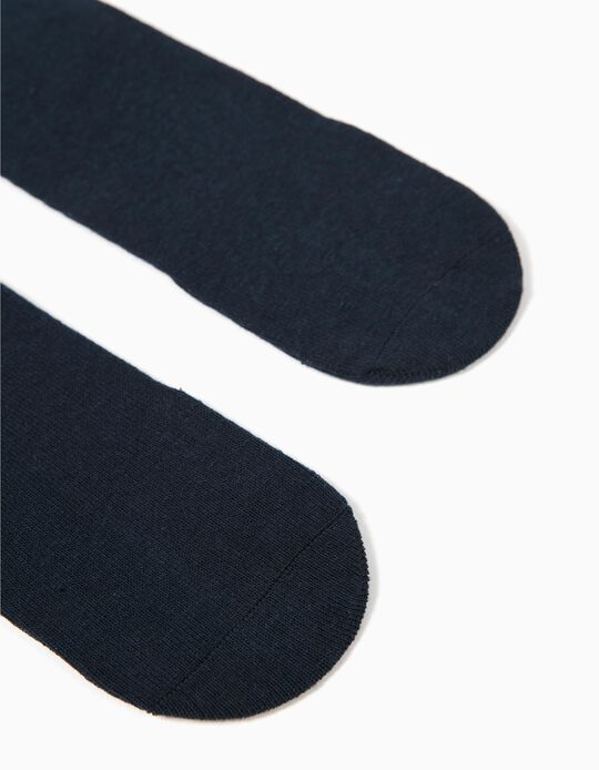 2 Pairs of High Knee Socks for Boys, Dark Blue