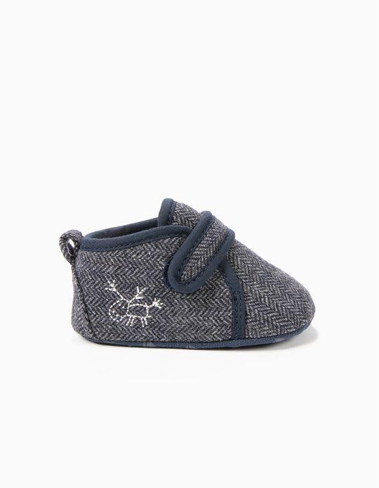 Sapatos Pre-Walker de Lã Cinzentos