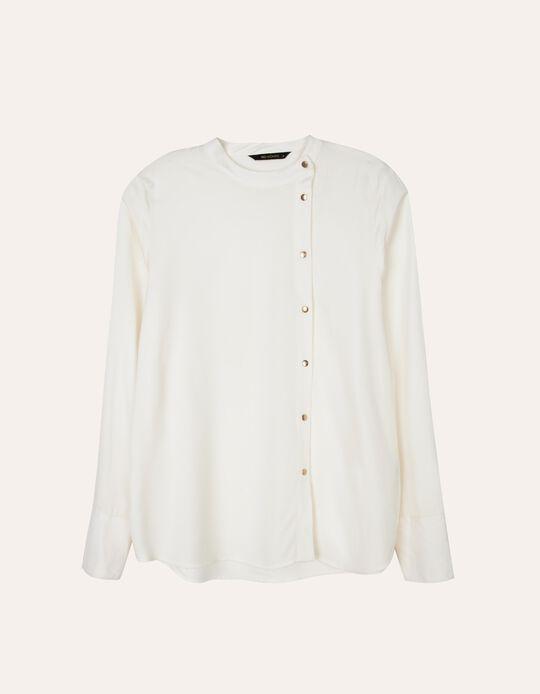 Blusa lisa com botões