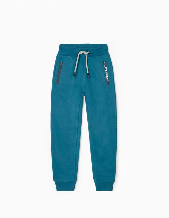 Joggers for Boys 'Let's Crush It', Blue