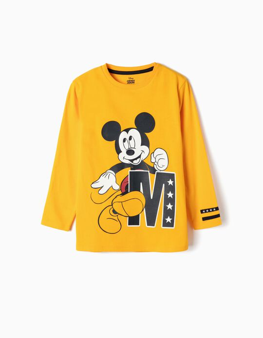 Long-sleeve Top for Boys 'Mickey', Yellow