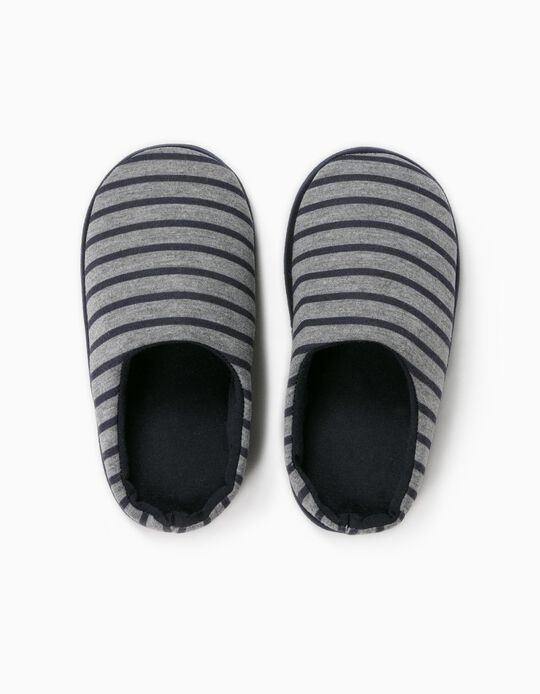 Striped Bedroom Slippers for Boys