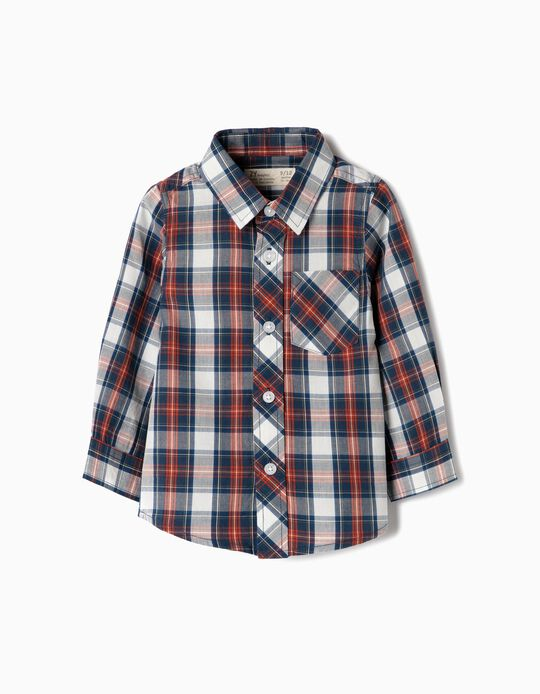 Long-Sleeve Shirt for Baby Boys 'Plaid', Blue