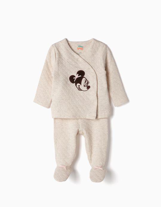 Pijama para Recém-Nascida 'Minnie', Bege