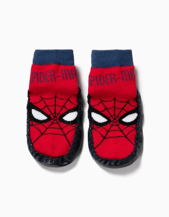 Meias-Pantufa Antiderrapantes para Menino 'Spider-Man', Vermelho