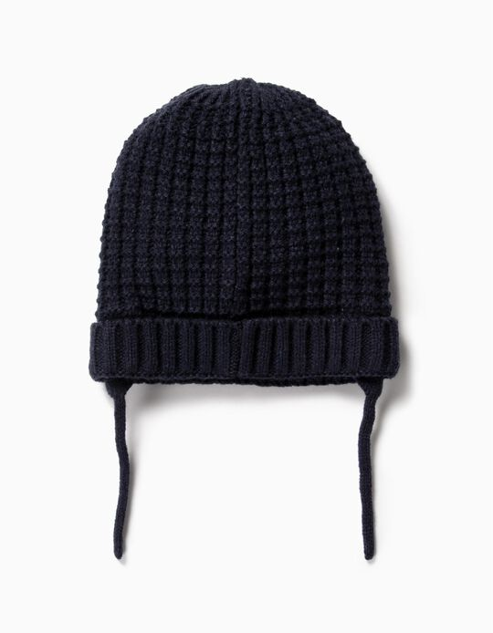 Knit Beanie for Kids, Dark Blue