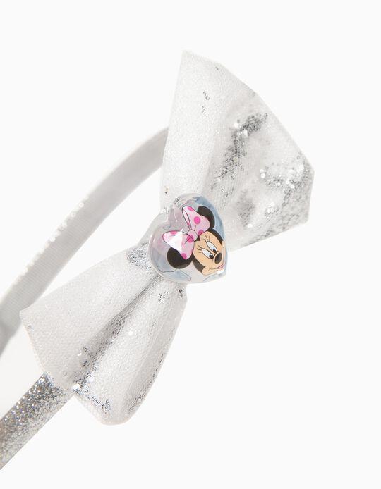 Bandolete com Laço para Menina 'Minnie', Prateado