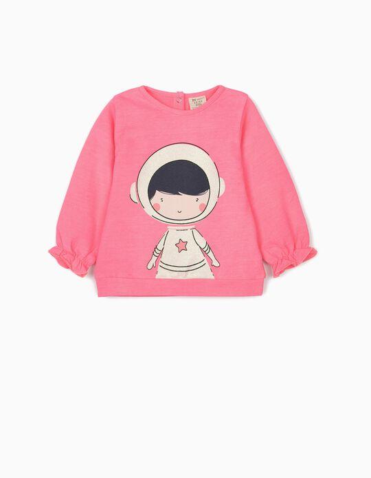 Sweatshirt para Bebé Menina 'Astronaut', Rosa