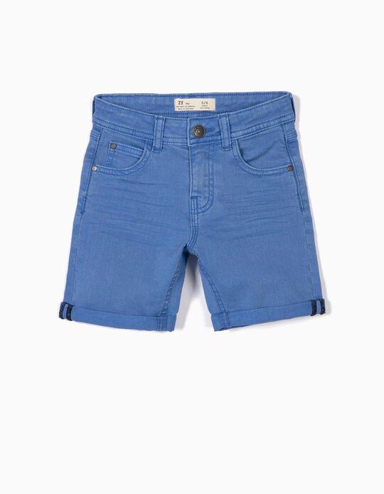 Twill Shorts for Boys, Blue
