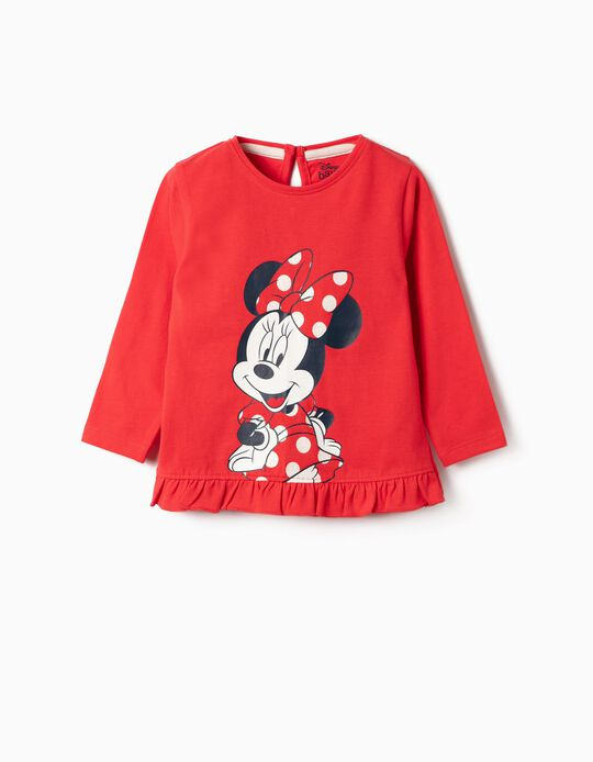Long-sleeve Top for Girls 'Minnie', Red