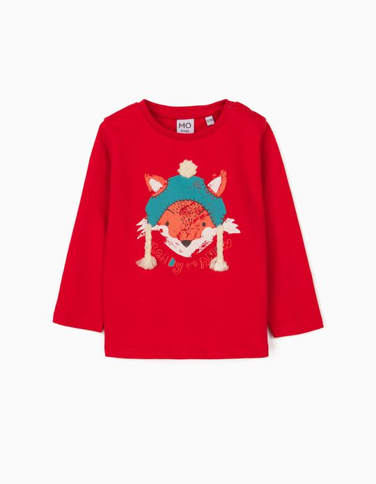 Long Sleeve Top, Baby Boys, Red
