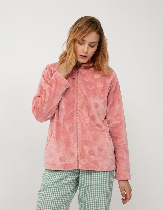 Casaco de Pijama, Mulher, Rosa