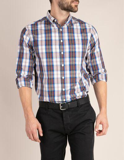 Camisa casual regular fit em tartan