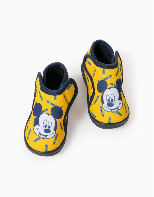 Pantufas para Bebé Menino 'Mickey', Amarelo