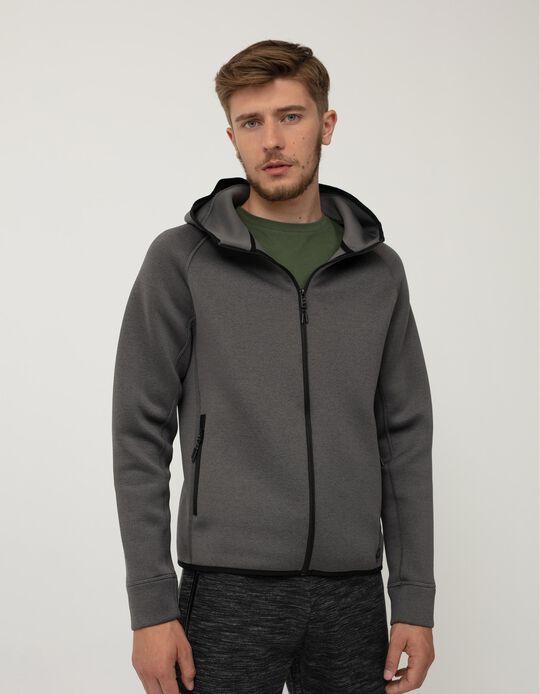 Waterproof Techno Jacket, Men, Grey