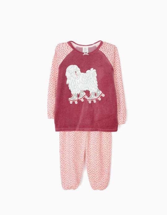 Pijama Veludo Rollerblading Dog