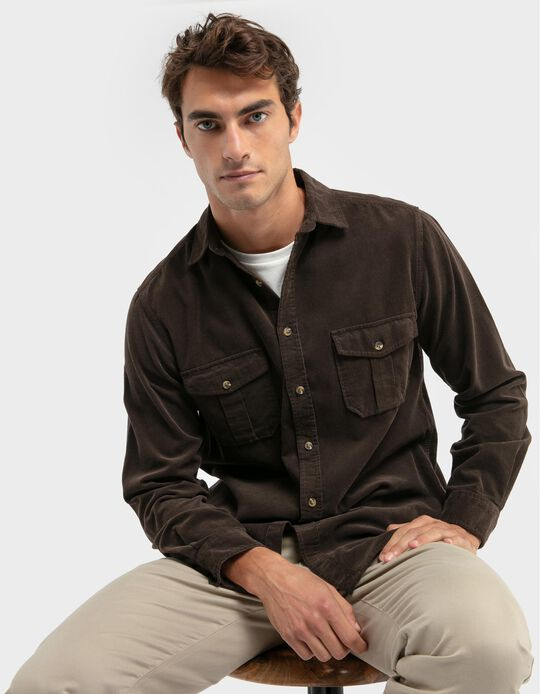 Regular fit corduroy shirt