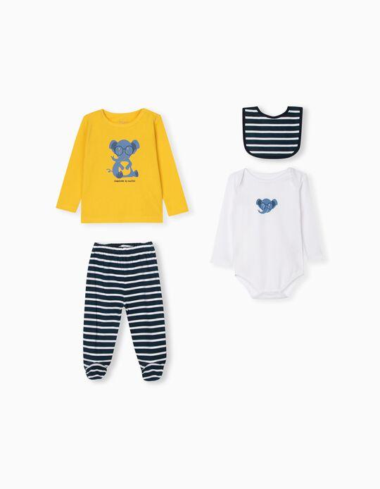 Bodysuit, Sports Combo & Bib for Babies, Pink