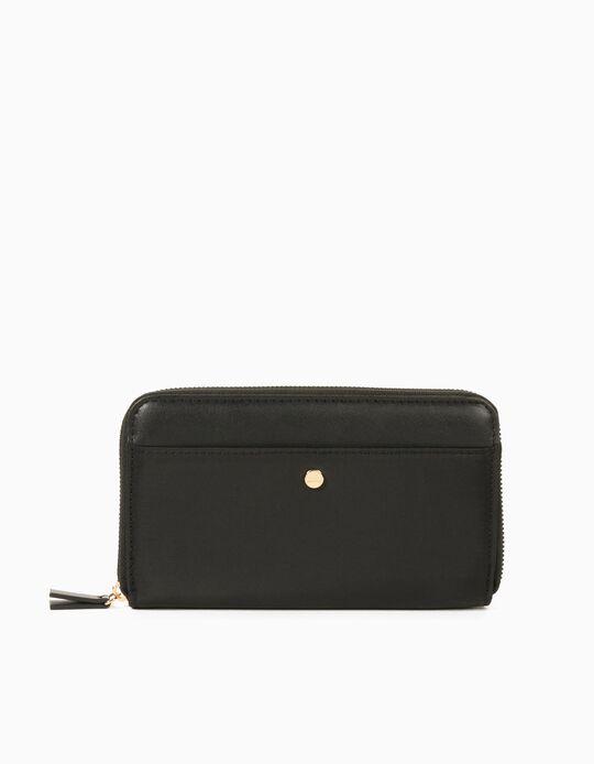 Nylon Wallet for Women, Black