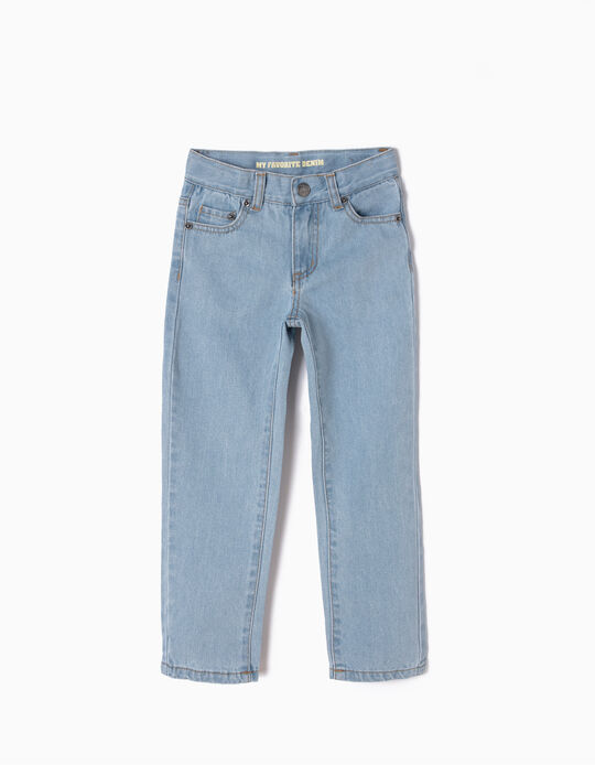 Regular Fit Jeans for Boys, Light Blue