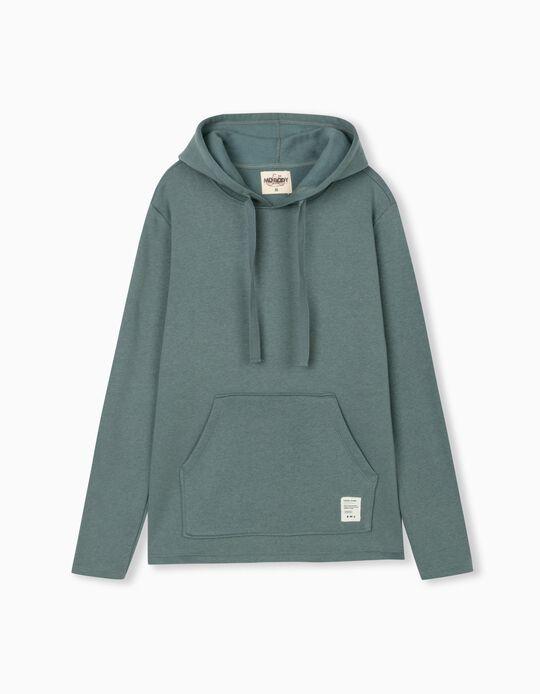 Hooded Sweatshirt, Men, Blue