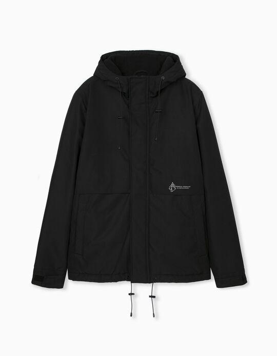 Padded Waterproof Jacket for Men, Black