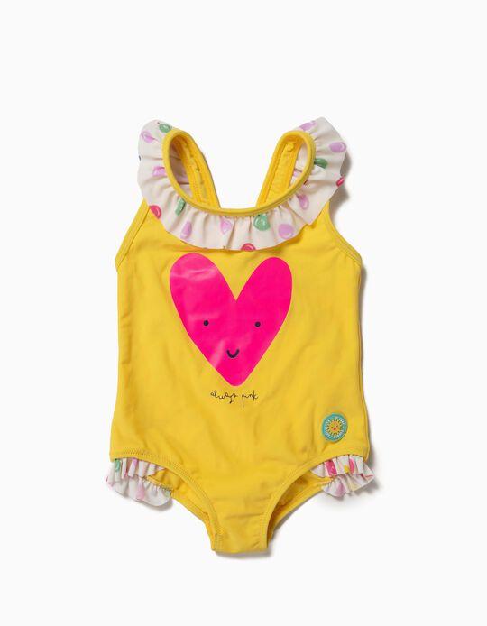 Fato de Banho para Bebé Menina 'Always Pink' Anti-UV 80, Amarelo