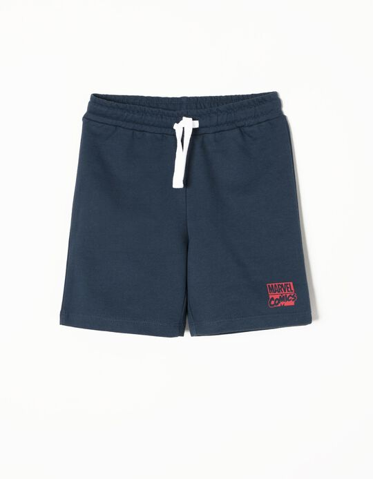Blue Fleece Shorts, Marvel