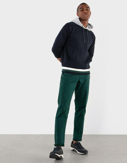 Slim Leg Twill Trousers, for Men