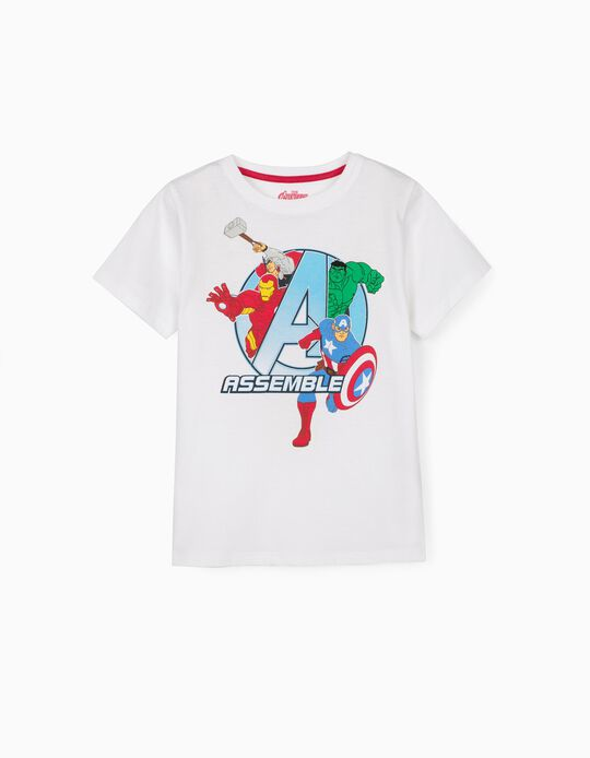 T-shirt for Boys, 'Avengers Assemble', White