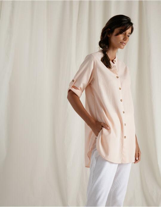Linen Blend Shirt Tunic