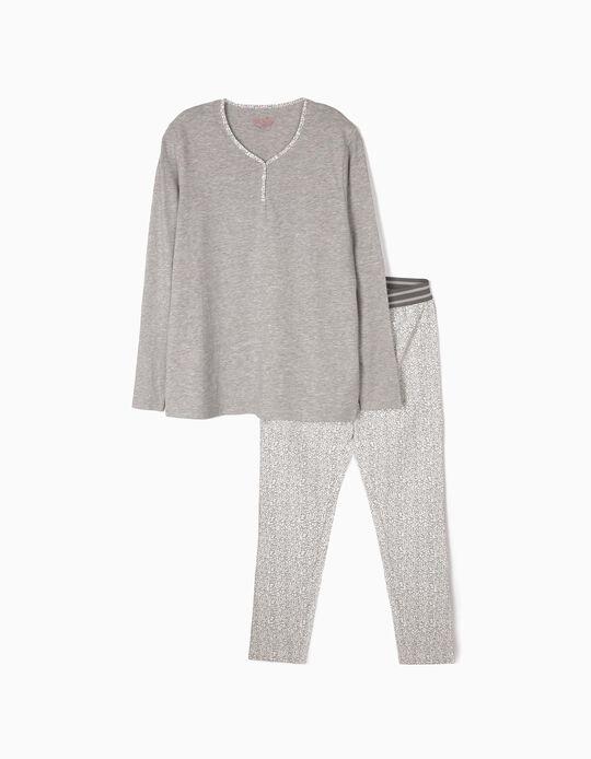 Pijama mesclado com estampado