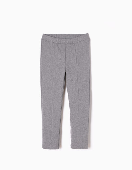 Grey Jersey Knit Fabric Leggings