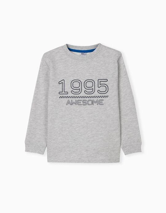 Sweatshirt with Print, Kids, Grey