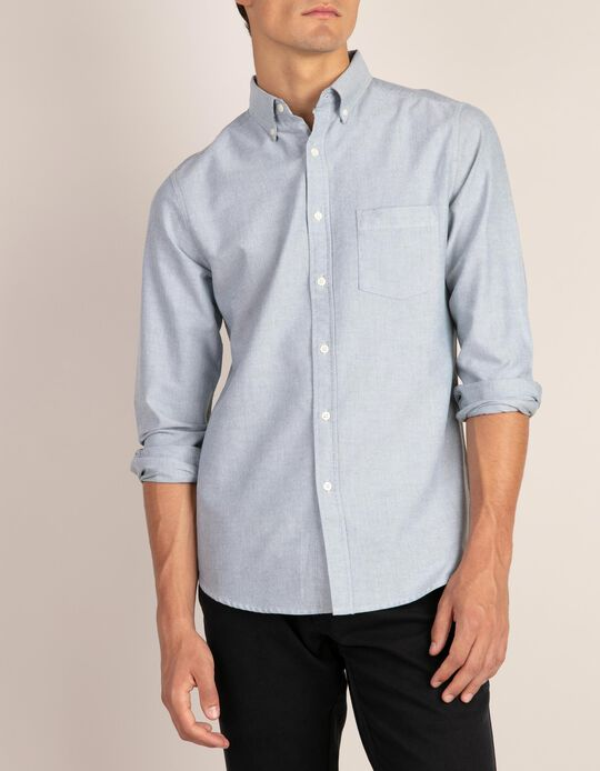 Casual slim fit Oxford-type shirt