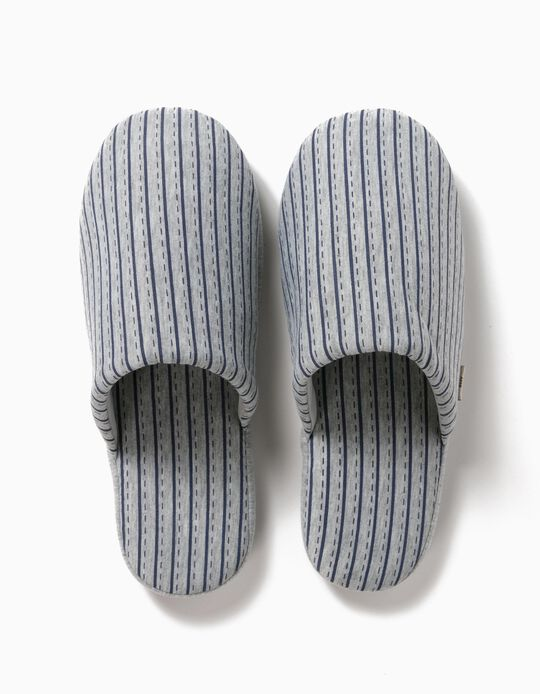 Striped Bedroom Slippers for Men
