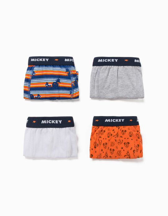 4 Boxer Shorts for Boys, 'Mickey Mouse & Friends', Multicoloured