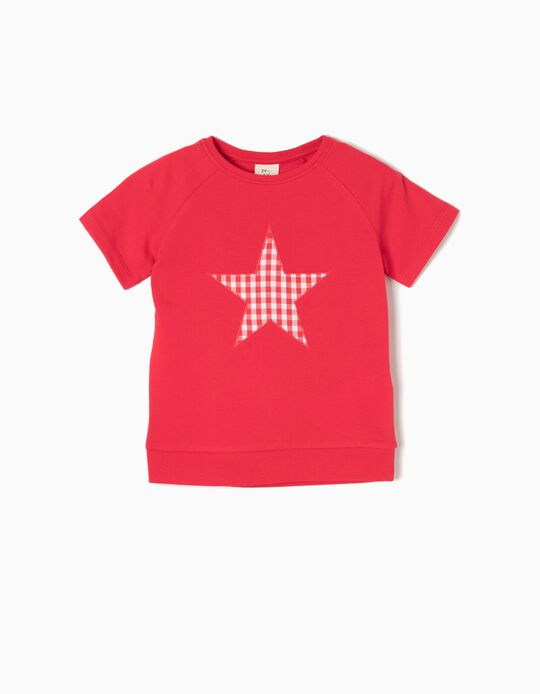Short-Sleeved Sweatshirt, Star