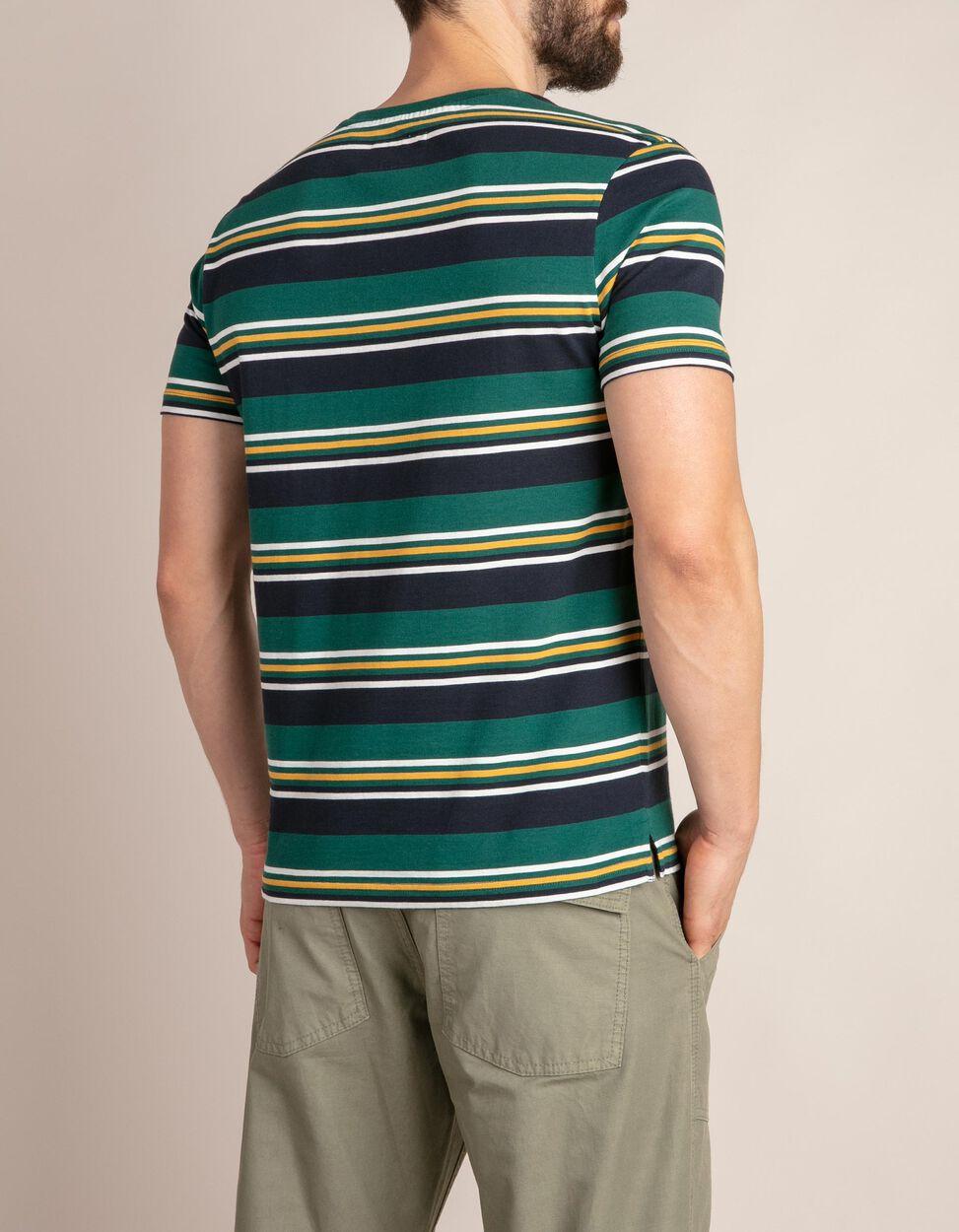 T-shirt multicolor às riscas