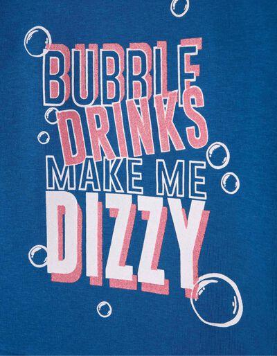 Sweatshirt Bubble Drinks Azul