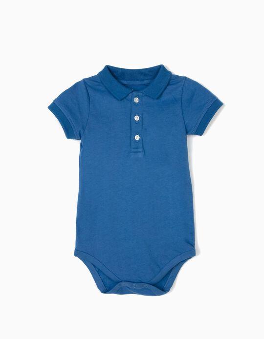 Body-Polo para Recém-Nascido, Azul