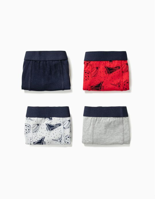 4-Pack Boxers for Boys 'Astronaut', Multicolour