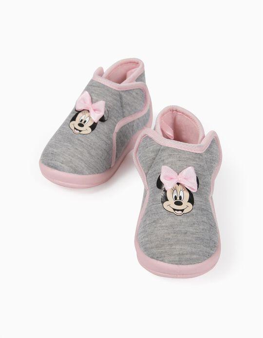 Pantufas para Bebé Menina 'Minnie', Cinza