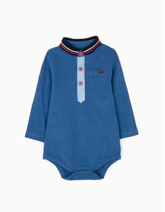 Body Polo para Recém-Nascido, Azul